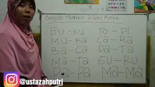 Belajar membaca 2 suku kata| cara belajar membaca