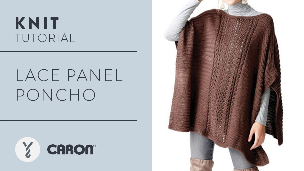 How to Knit: Lace Panel Poncho - YouTube