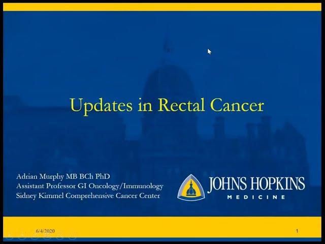 Rectal cancer johns hopkins. Dr. Susan Gearhart cancer pulmonar ninos sintomas