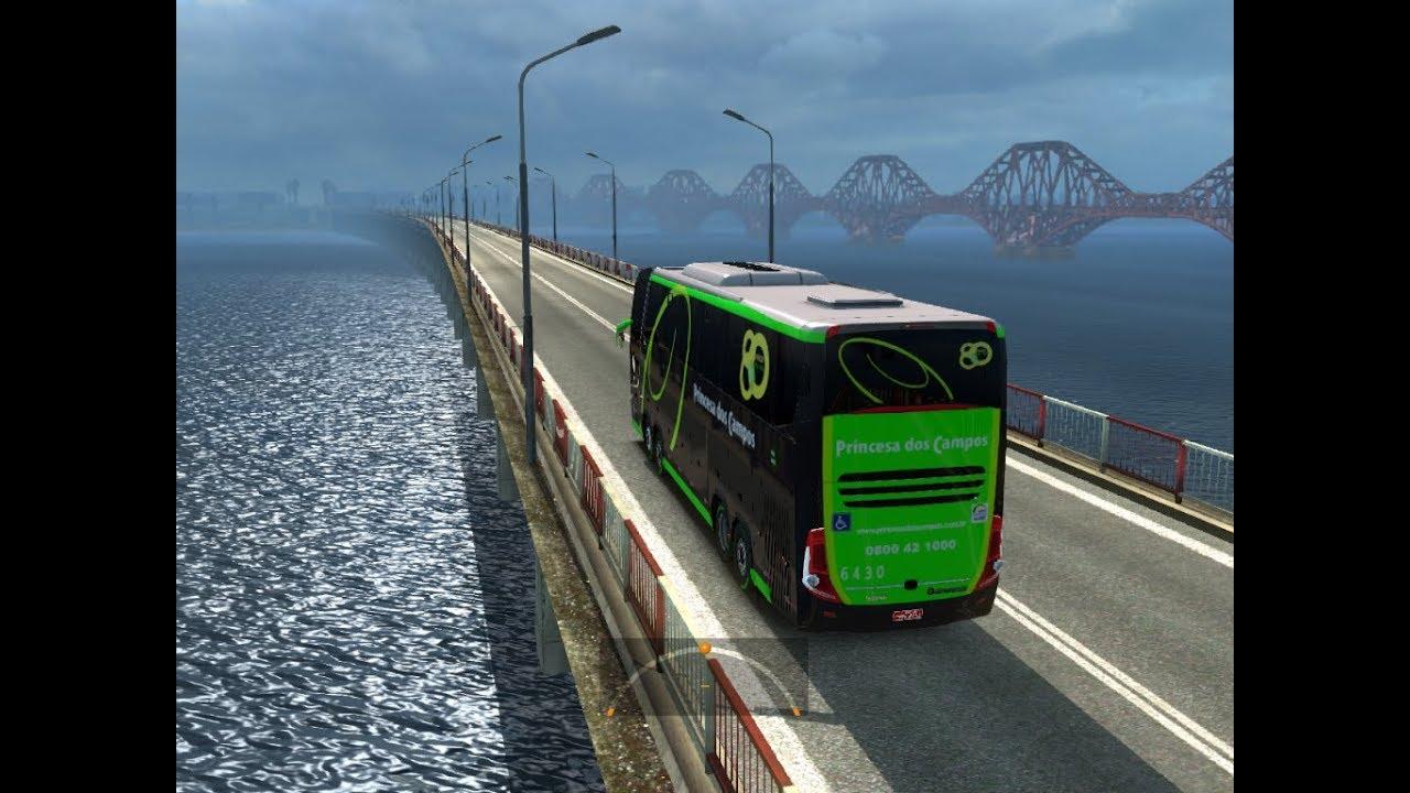 Euro Truck Simulator 2 Bus Edition 2018 Gameplay Youtube