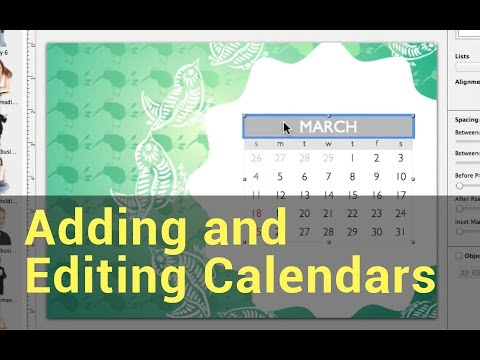 swift publisher 3 tutorials adding and editing calendars youtube