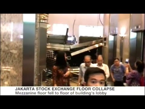 Floor Collapses At The Indonesia Stock Exchange In Jakarta