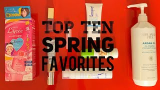 Top Ten Spring Favorites - Skincare - baby products - food