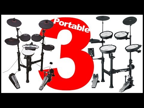 Top 3 Electronic Drumsets For EXTREME Portability