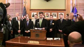 Governor Brownback delivers statement prior to signing pro-growth tax legislation