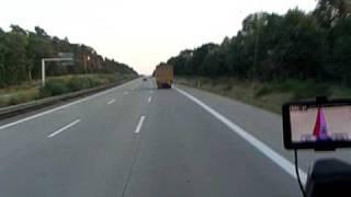 Tir trasa Niemcy Man Zycie kierowcy Autostrada Praca Kierowcy