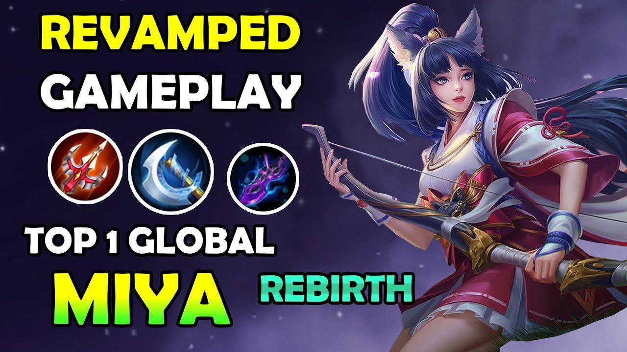 revamped gameplay of miya ! Top 1 Global miya Gameplay and new build 2020