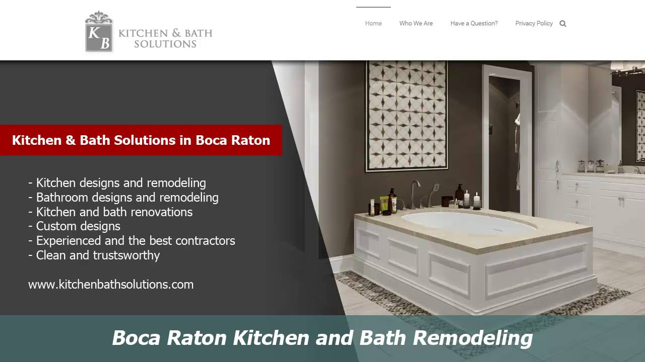 Boca Raton Kitchen And Bath Remodelers :: Kitchen Bath Solutions