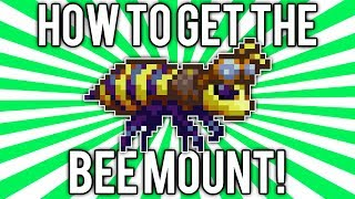 Terraria 1.2.4: Bee Mount! (Honeyed Goggles Summoning Item) @demizegg
