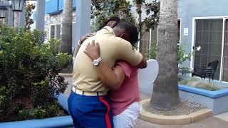 Marine Surprises Mom During Family Reunion