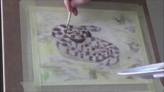 кошачья змея гуашью 1
