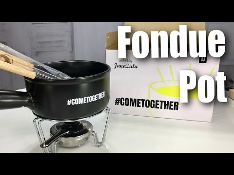 Janazala Ceramic (1.5-Quart) Large Porcelain Cheese Fondue Pot Set Unboxing #COMETOGETHER