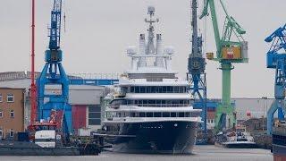 Mega Explorer Yacht LUNA - ready after rebuilding of Lloyd and Stahlbau shipyard