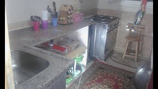 جوله فى مطبخى الجديد ازاى عملت مطبخ 3متر بالف جنيه بس