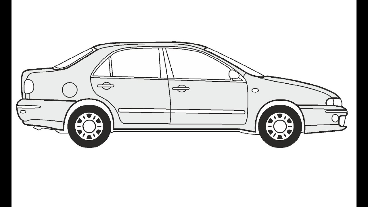 How to Draw a Fiat Marea JTD 130 HLX / Как нарисовать Fiat