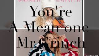 Sabrina Carpenter Ft  lindsey stirling- You 're a mean one Mr.Grinch (audio official)