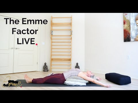 Deep stretches to calm \u0026 restore | Emme's live yoga class 3/27/20