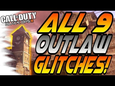 *NEW* ALL 9 OUTLAW GLITCHES! - Secret Rooms, Wallbreaches (Black Ops 3/BO3 Glitches & Secrets)