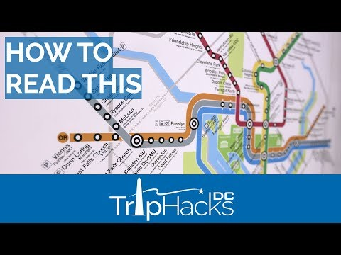 How to Read the DC Metro Map
