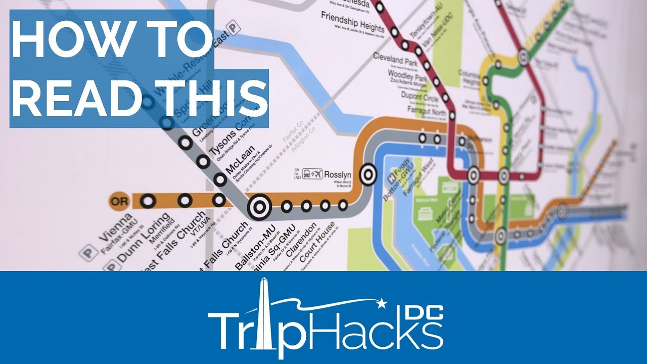 How To Read The Dc Metro Map Youtube
