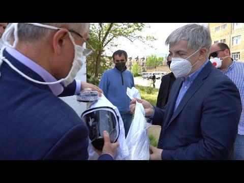 Глава Дербента Хизри Абакаров побывал на территории дербентской центральной больницы