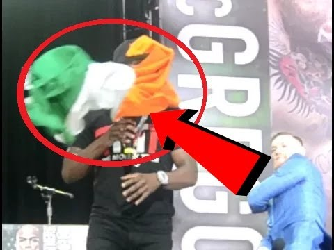 Thumbnail: Conor McGregor Throws Flag in Floyd Mayweather's face