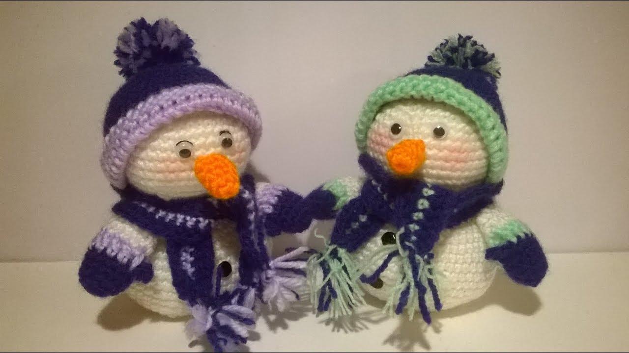 Pupazzo Di Neve Uncinetto Amigurumi Tutorial Snowman Crochet