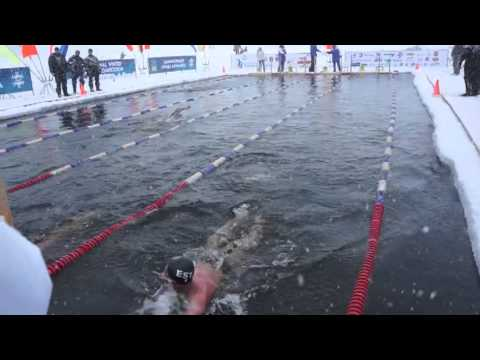 2150m ice swim in arctic