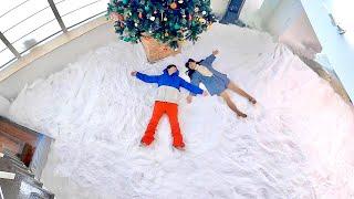 【モニタリング】新居の大豪邸を大量の雪でゲレンデにしてみたら…
