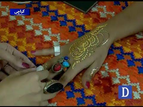 کراچی: سفید اور سنہرے رنگ والی حنا خواتین میں مقبول