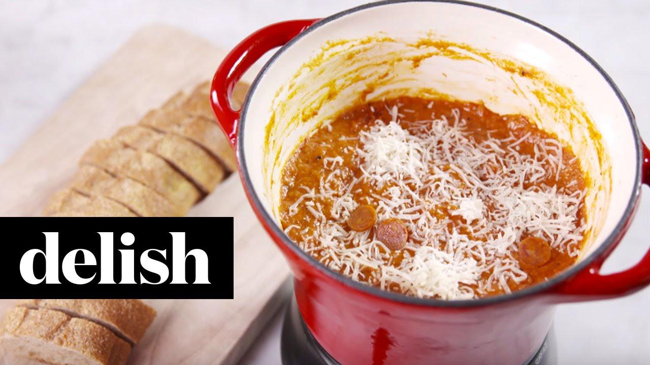 How To Make Pizza Fondue  Delish