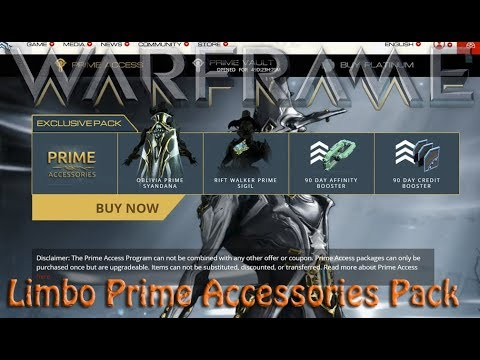Warframe - Limbo Prime Accessories Pack?