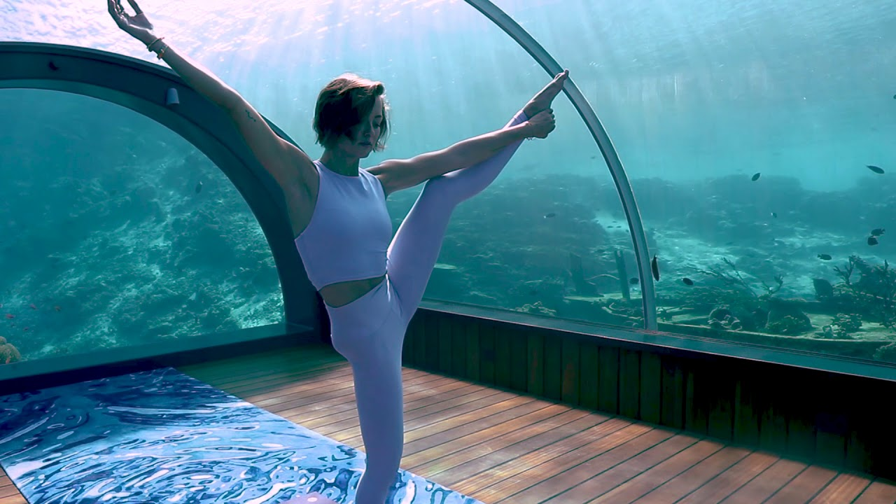 Image result for (WORLD'S FIRST UNDERWATER YOGA HOSTED BY HURAWALHI)