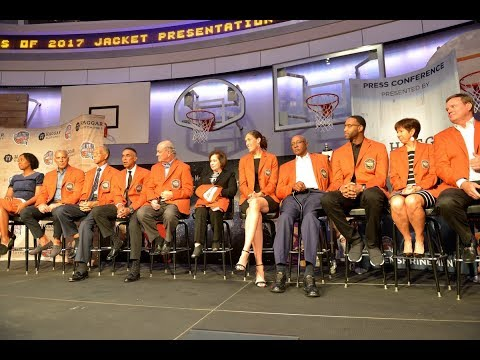 2017 Naismith Memorial Basketball Hall of Fame Enshrinement Press Conference