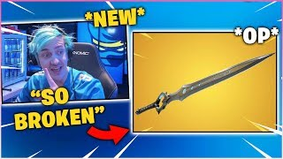 "NINJA *FIRST TIME* Using The New *BROKEN* ""INFINITY BLADE"" Sword MELEE WEAPON!"