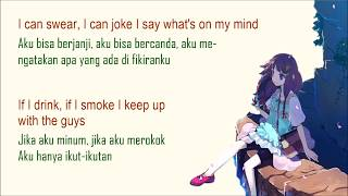 pretty Girl cover  'Nightcore'   Maggie Lindemann   Lyrics Lirik Terjemahan Indonesia