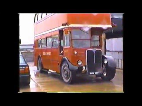 PD Driving Ex London Transport Bus KGU106 AEC Regent III RT 2177  May 1995