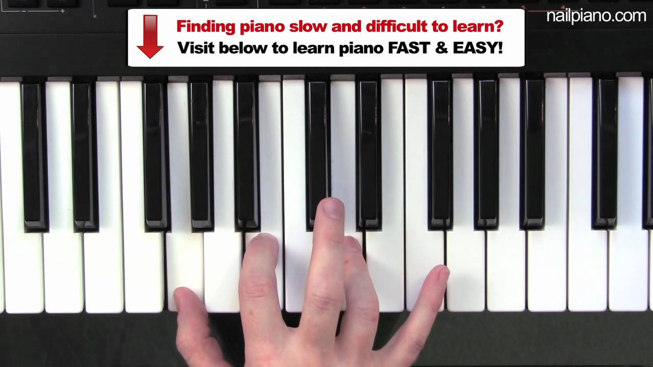 Easy piano chords g major chord beginner tutorial youtube hexwebz Image collections
