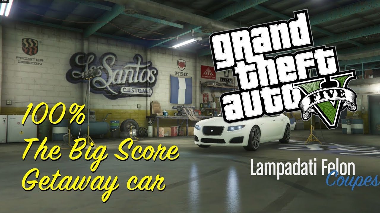 Gta 5 100 Completion The Big Score Getaway Car Mission Gameplay Walkthrough