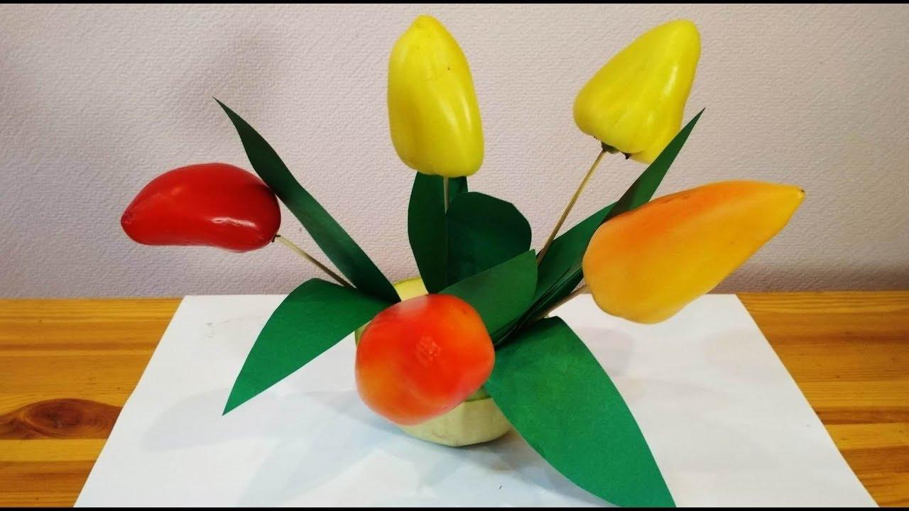 Осенние цветы своими руками для школы