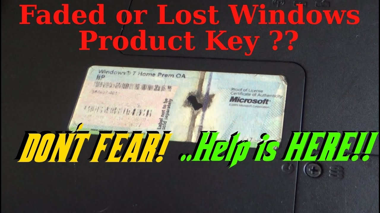 How To Recover Your Windows Operating System Product Key When It
