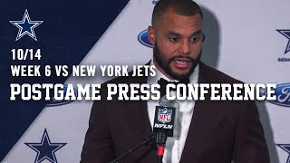 Dak Prescott Postgame Week 6 vs. New York Jets | Dallas Cowboys 2019