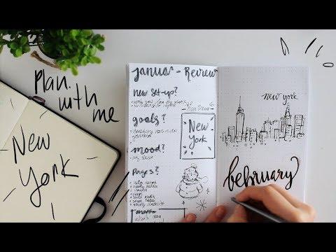 PLAN WITH ME | NEW YORK | BULLET JOURNAL| TRAVELER'S NOTEBOOK