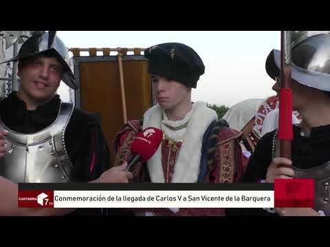 Conmemoracion llegada Carlos V a San Vicente de la Barquera