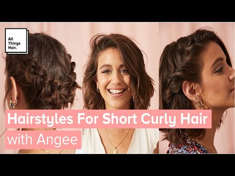 3 Easy Hairstyles For Short Curly Hair With And Without Heat Youtube