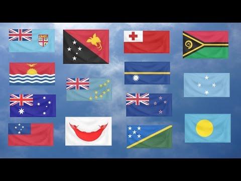 Flag Quiz, Oceania.