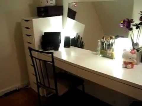 Vanity Table Storage and Organizing Hair  Makeup  YouTube