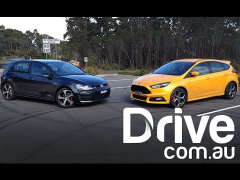 2015 Ford Focus St V Volkswagen Golf Gti Head To Head Drive Com Au Youtube