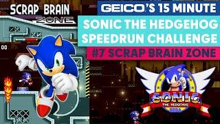 GEICO'S 15 Minute Sonic the Hedgehog Speedrun Challenge | #7 Scrap Brain Zone