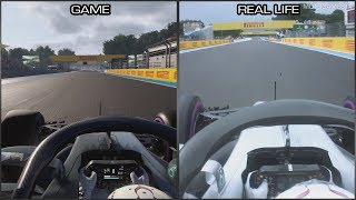F1 2018 vs Real Life - Circuit Paul Ricard Onboard Lap Comparison